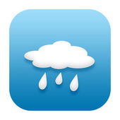 Raining weather icon — Stock Photo
