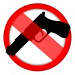 No gun sign — Stock Photo