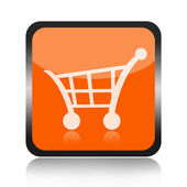 Shopping cart button — Zdjęcie stockowe