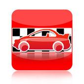 ícone de carro de corrida — Fotografia Stock