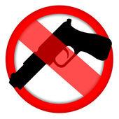 Ingen pistol tecken — Stockfoto