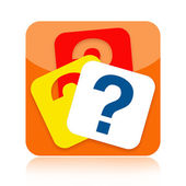 Question marks icon — Stock Photo