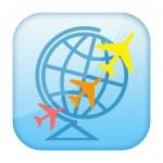 Air travel icon — Stock Photo