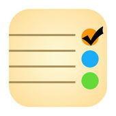 Checklist icon — Stock Photo