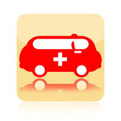 Ambulance car icon — Stockfoto
