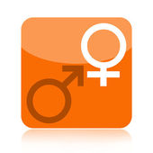 Venus and Mars symbols icon — Stock Photo
