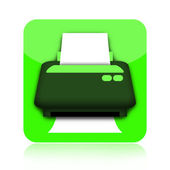 Printer icon — Stock Photo