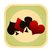 Card games retro icon — Stock Photo