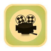 Cinema retro icon — Stock Photo