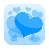 Frozen hearts icon — Foto de Stock