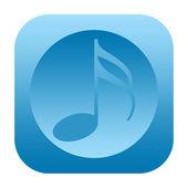 Music sound audio icon — Stock Photo