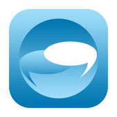 Messenger social media icon — Stock Photo