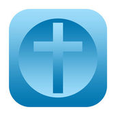 Christian cross icon — Stock Photo
