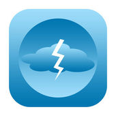 Thunderstorm icon — Stock Photo