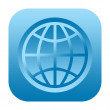Globe icon — Stock Photo #34315193