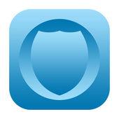 Shield icon — Stock Photo
