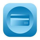 Credit card icon — Stock Photo