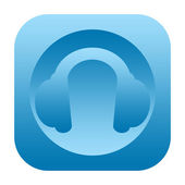 Headphones icon — Stock fotografie