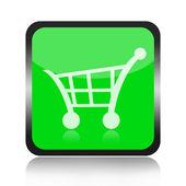 Shopping cart button — Stock Photo