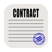 Contract icon — Foto Stock