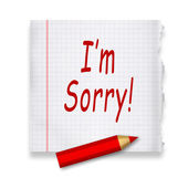 I am sorry — Stock Photo