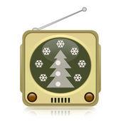 Christmas retro TV — ストック写真