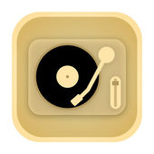 Vinyl player vintage icon — Stockfoto