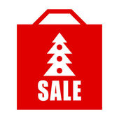 Christmas sale shopping bag — Stockfoto