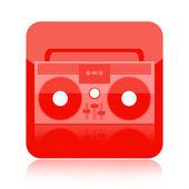 Boombox ikona — Zdjęcie stockowe