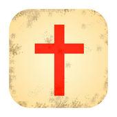 Christian cross icon — Stock Photo