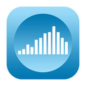 Equalizer sound icon — Stock Photo