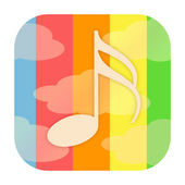 Cloud music icon — Stock Photo