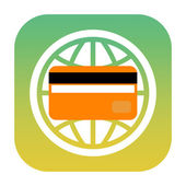 Credit card icon — Foto Stock