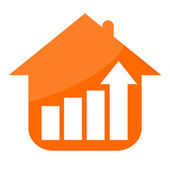 House and growing business stats — Stock Photo