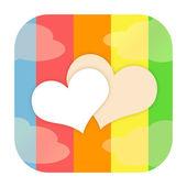älska hjärtan ikonen — Stockfoto