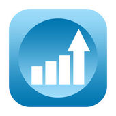 Business growth statistical graph icon — Stock Photo