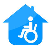 Handicap in the house — Stock Photo