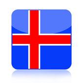 Iceland flag icon — Stock Photo