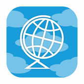 Globe icon — Stock Photo