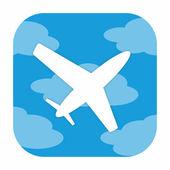 飛行機アイコン — ストック写真
