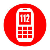 112 emergency phone — Stock Photo