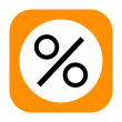 Percent icon — Stock Photo #38631123