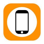 Smartphone icon — Stock Photo