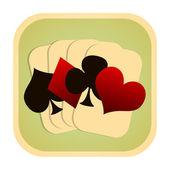 Speelkaarten pictogram — Stockfoto