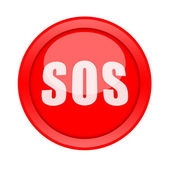 SOS button — Foto de Stock