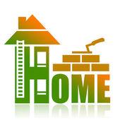 Construction home — Stock Photo