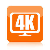 4K Ultra HD video icon — Stock Photo