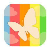 Butterfly icon — Stock Photo