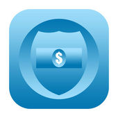 Finance safety icon — Stock Photo