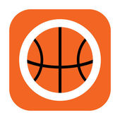 Basketball-ikone — Stockfoto